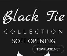 Free Black Tie Ticket Template
