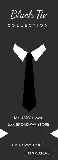 Black Tie Ticket Template
