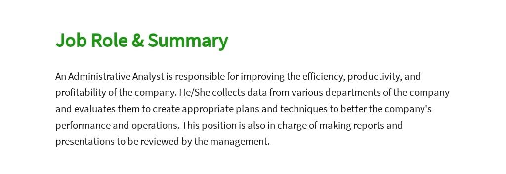 Free Administrative Analyst Job Ad/Description Template 2.jpe
