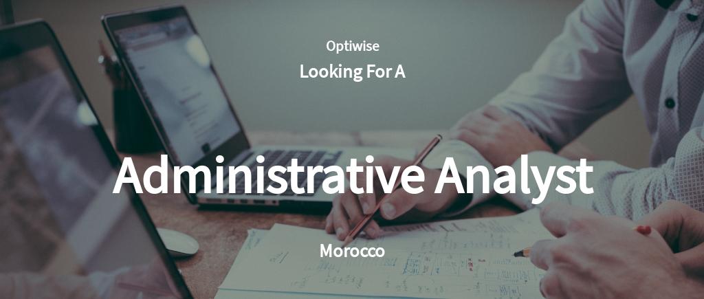 Free Administrative Analyst Job Ad/Description Template.jpe