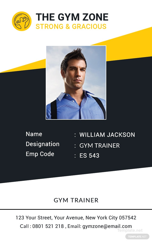 Gym Identity Card Template in Adobe Photoshop, Illustrator ...