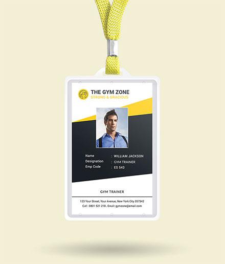 Gym Identity Card Template