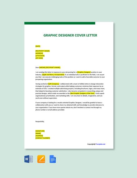 Free Graphics Designer Cover Letter Template