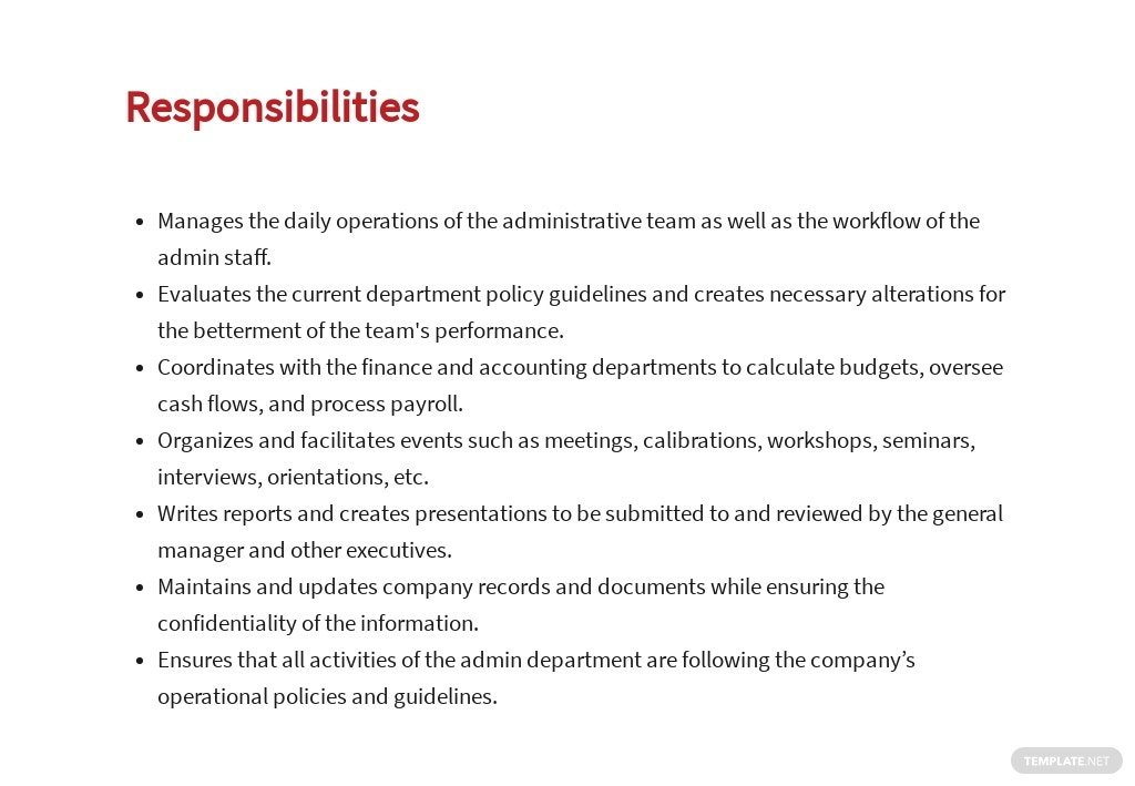 Free Administrative Operations Manager Job Ad/Description Template 3.jpe