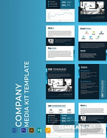 Free Company Media Kit Template