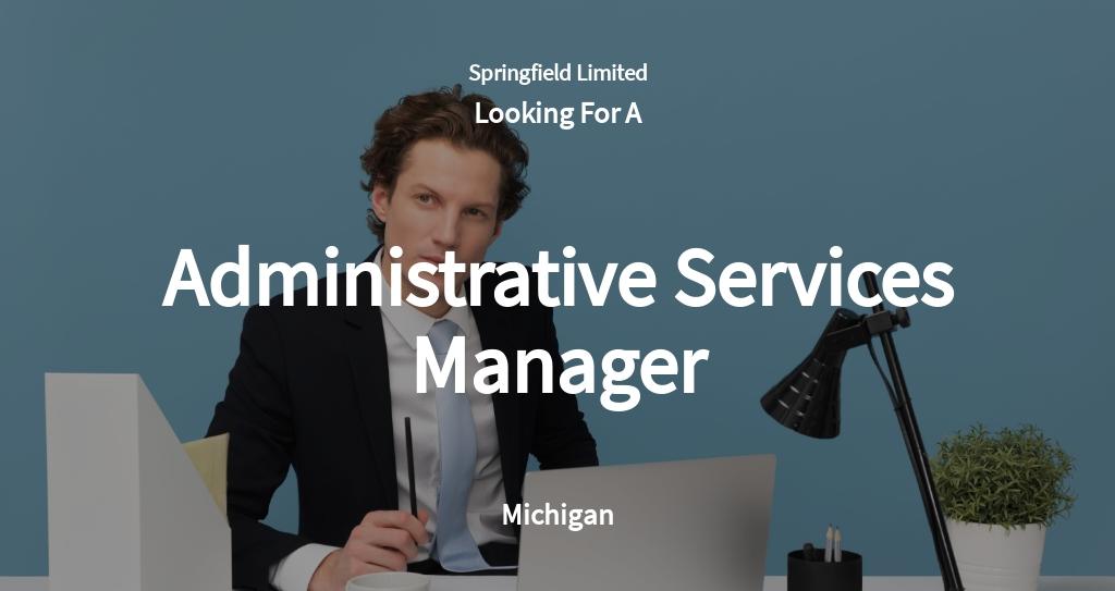 Administrative Services Manager Job Ad/Description Template
