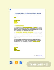 Free Administrative Support Cover Letter Template