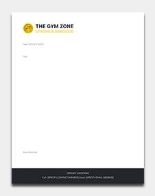 Gym letterhead Template