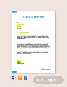 Free RN Educator Cover Letter Template