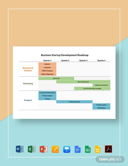 Business Startup Development Roadmap Template