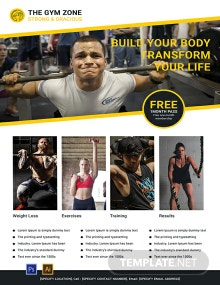 Free Gym Poster Template