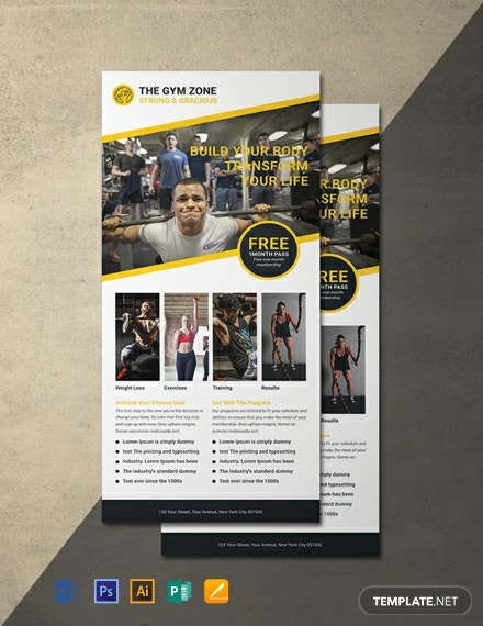 Free Gym Rack Card Template