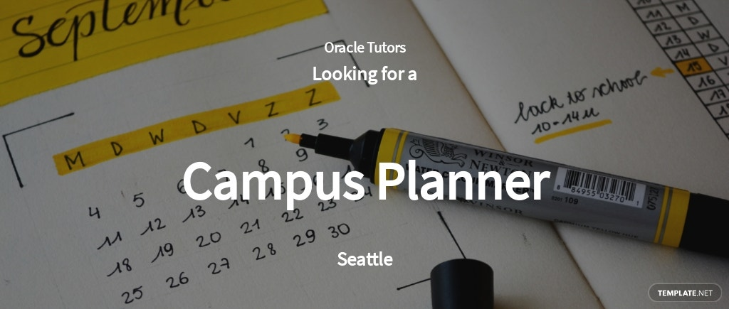 Campus Planner Job AD/Description Template