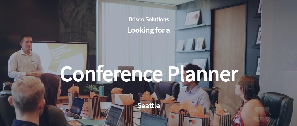 Conference Planner Job Description Template
