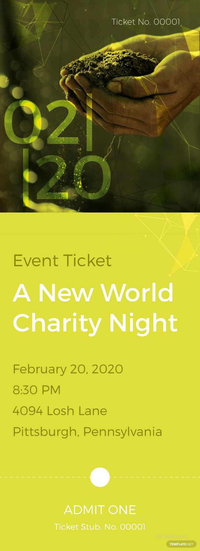 Charity Ticket Template