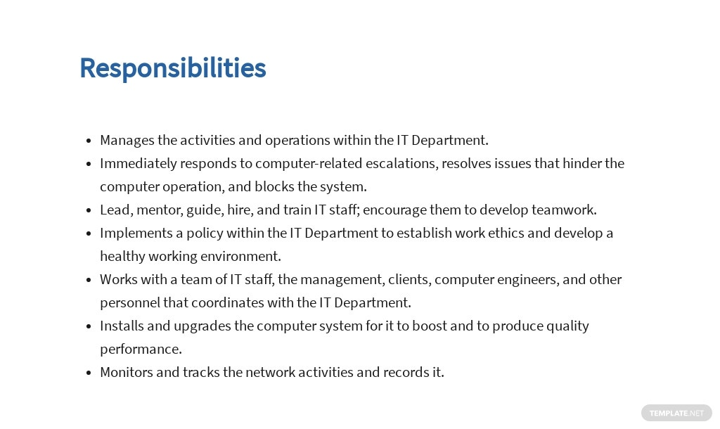 Free Information Technology Operations Manager Job AD/Description Template 3.jpe