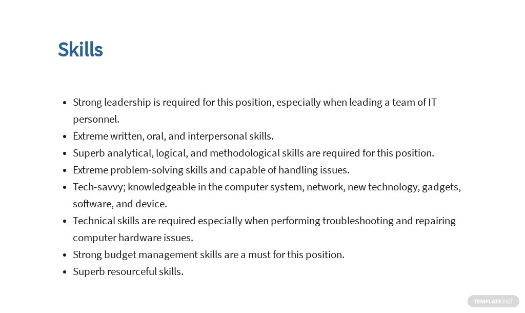 Free Information Technology Operations Manager Job AD/Description Template 4.jpe