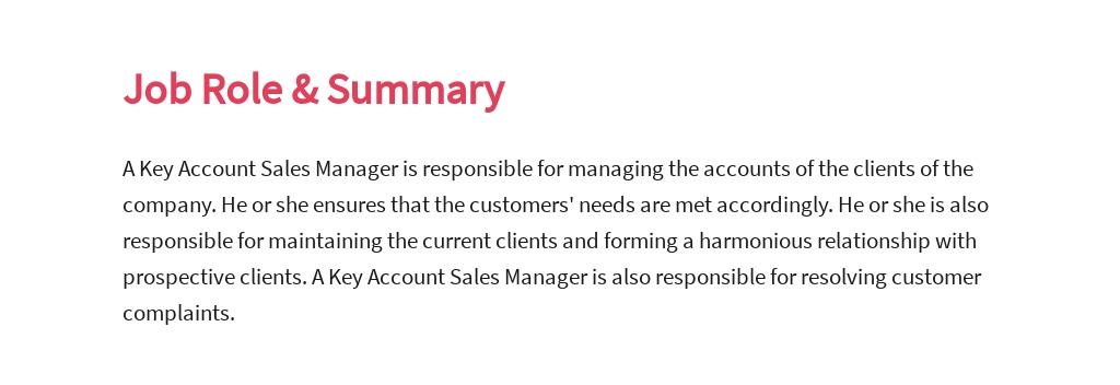 Free Key Account Sales Manager Job AD/Description Template 2.jpe