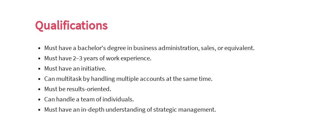 Free Key Account Sales Manager Job AD/Description Template 5.jpe