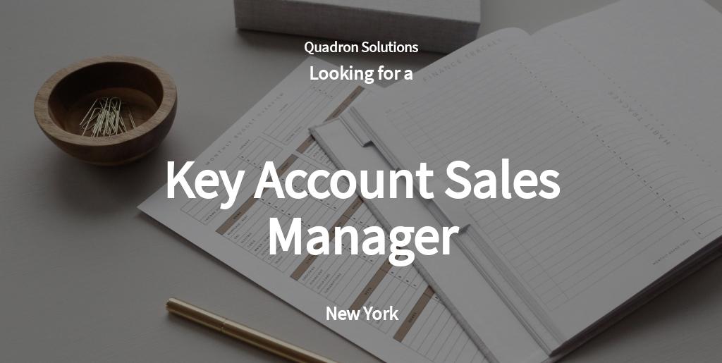 Free Key Account Sales Manager Job AD/Description Template.jpe