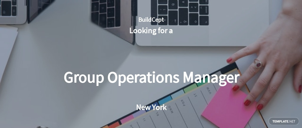 Group Operations Manager Job Description Template