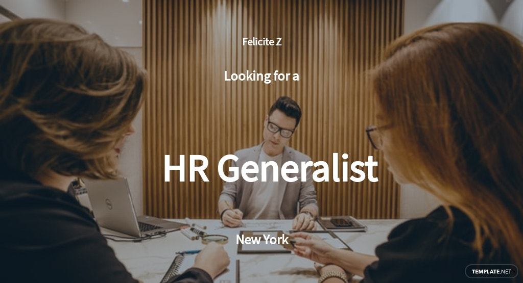 HR Generalist Job Description Template