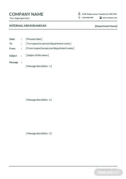 Sample-internal-memo-440x622 Office Memo Format Example on for office, proper business, professional business, sample inter office, english paper, legal notice, multiple page, sample staff,