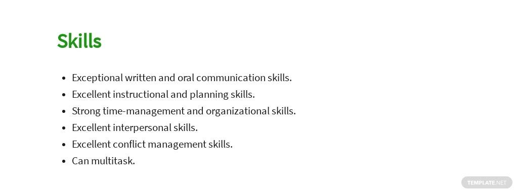 Free Primary Teacher Job AD/Description Template 4.jpe