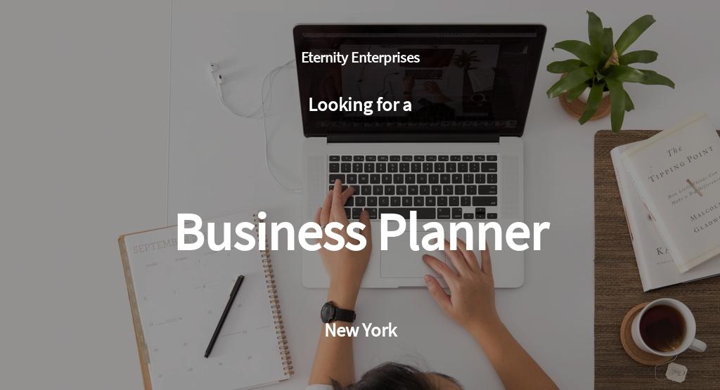 Business Planner Job AD/Description Template