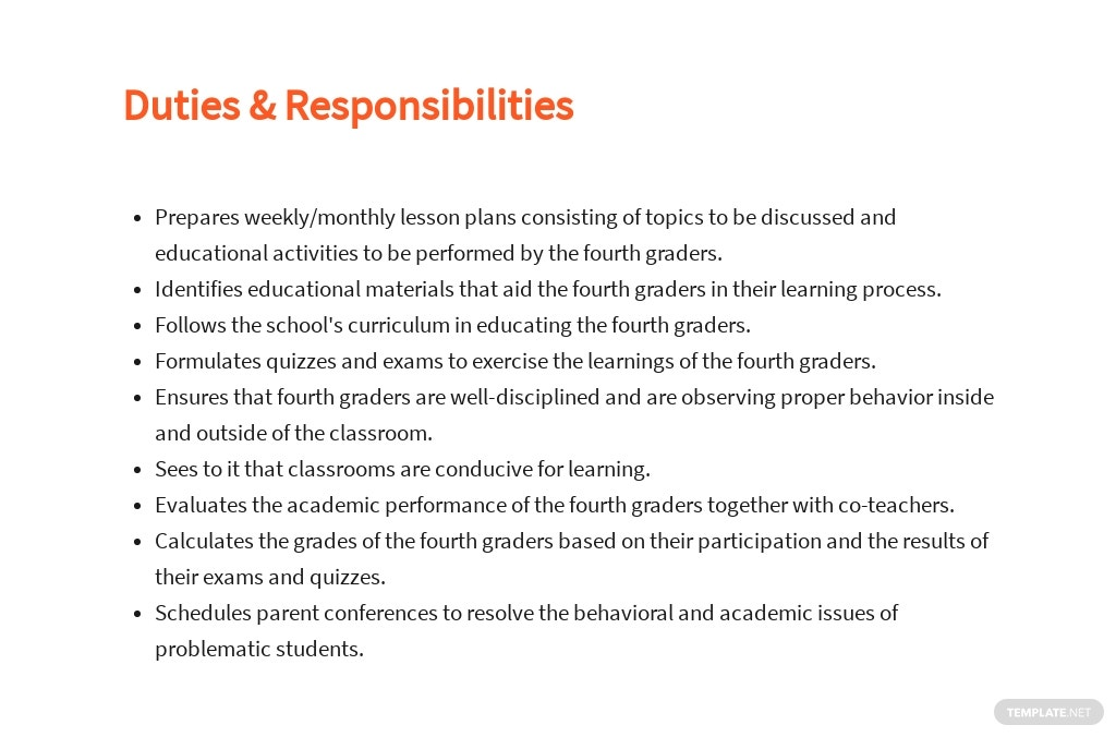 Free Fourth Grade Teacher Job Ad/Description Template 3.jpe
