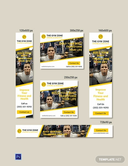 Free Gym Ad Banner Template