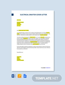 Free Electrical Drafter Cover Letter Template