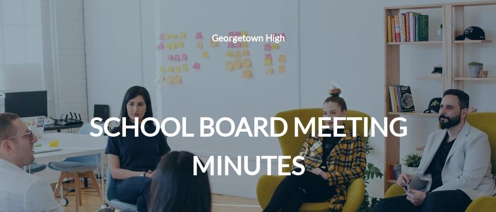 School Board Meeting Minutes Template