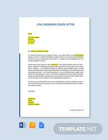 Free Civil Designer Cover Letter Template