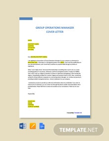 Free Group Operations Manager Cover Letter Template