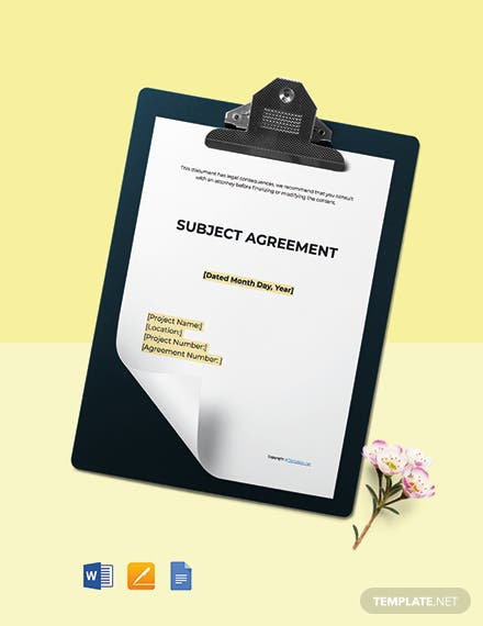 Free Sample Construction Agreement Template