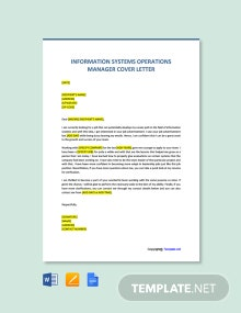 Free Information Systems Operations Manager Cover Letter Template