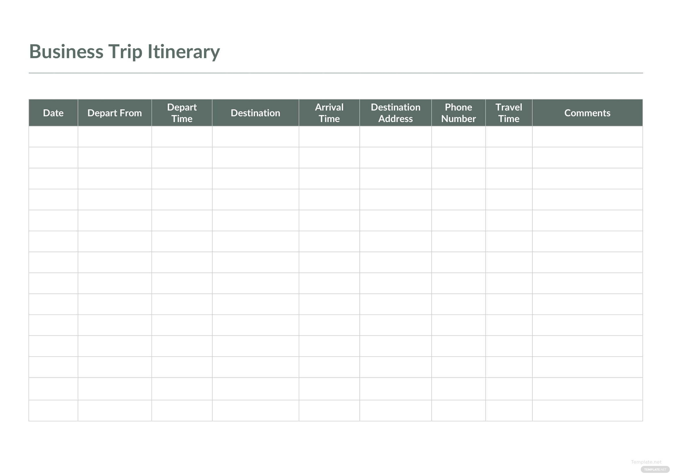 Nice Itinerary Template Inspiration Documentation Template Example