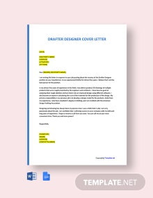 Free Drafter Designer Cover Letter Template