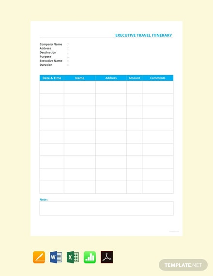 Itinerary Template Google Doc | 10 Free Google Docs Itinerary Templates Download Ready Made