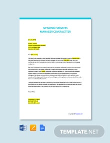 Free Network Services Manager Cover Letter Template