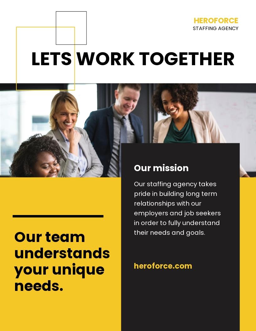 Staffing Agency Leaflet Template