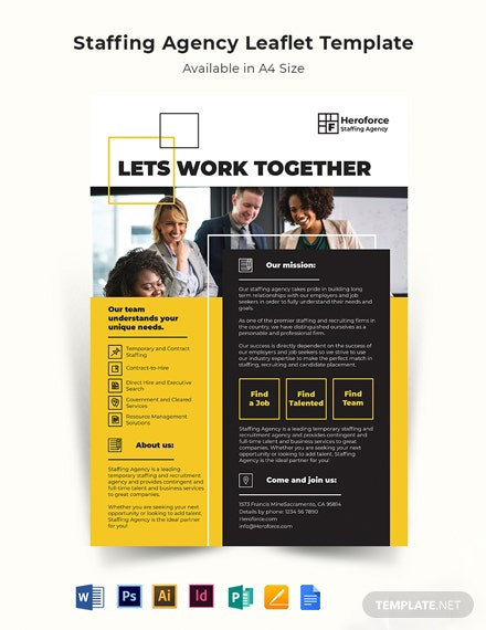 Staffing Agency Leaflet Template