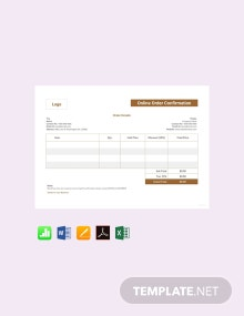 Free Online Order Confirmation Template