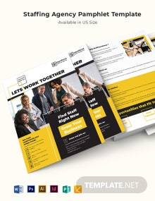 Staffing Agency Pamphlet Template