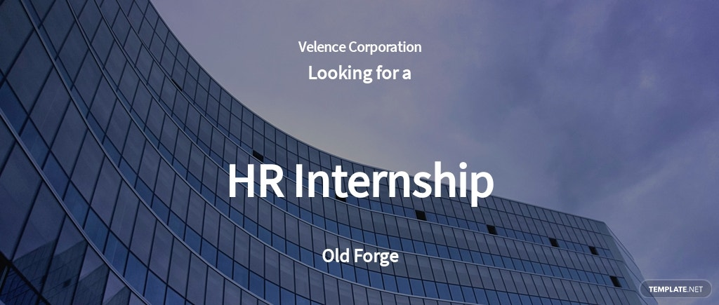 HR Internship Job Ad/Description Template