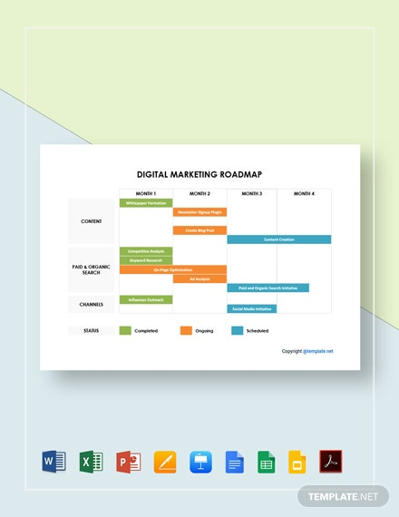 Digital Marketing Roadmap Template
