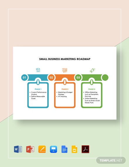 Small Business Marketing Roadmap Template [Free PDF] - Google Docs, Google Slides, Apple Keynote, PowerPoint, Word, Apple Pages