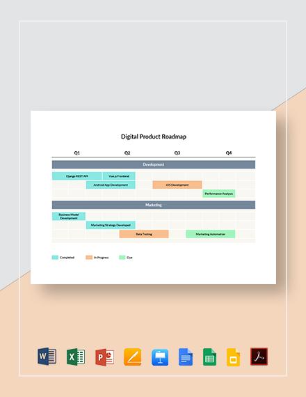 Digital Product Roadmap Template