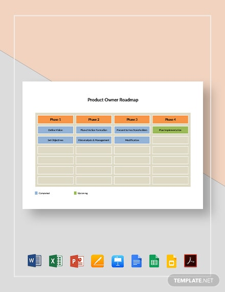 Product Owner Roadmap Template